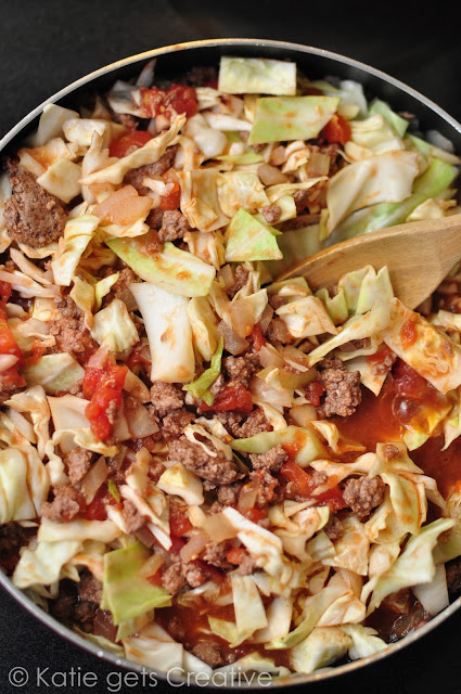 One Pan Cabbage Skillet from Katie Gets Creative